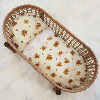 Dolls Bedding Set - Vintage Cream Floral